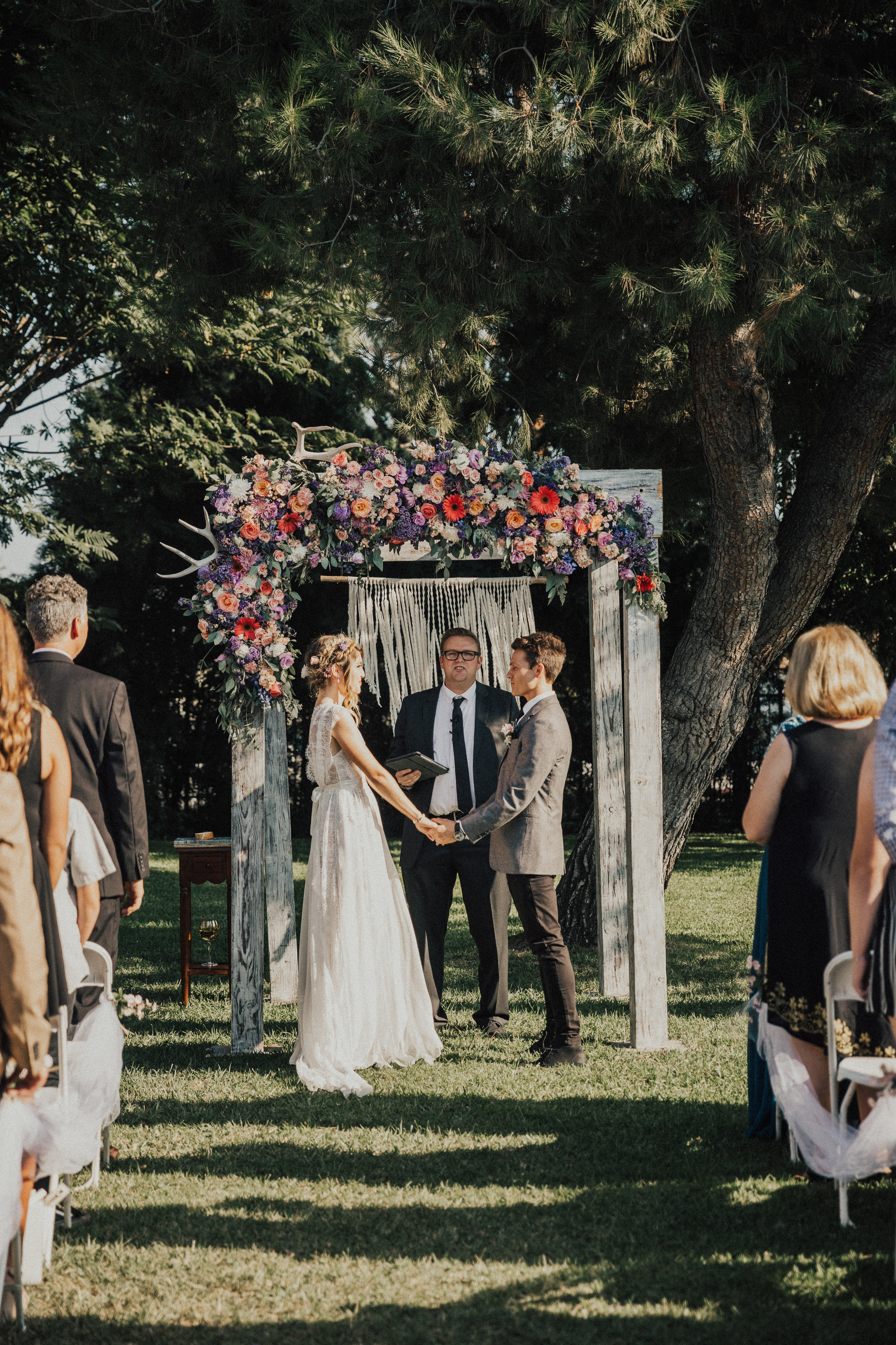 Lavender Wedding with a beautiful full arch
