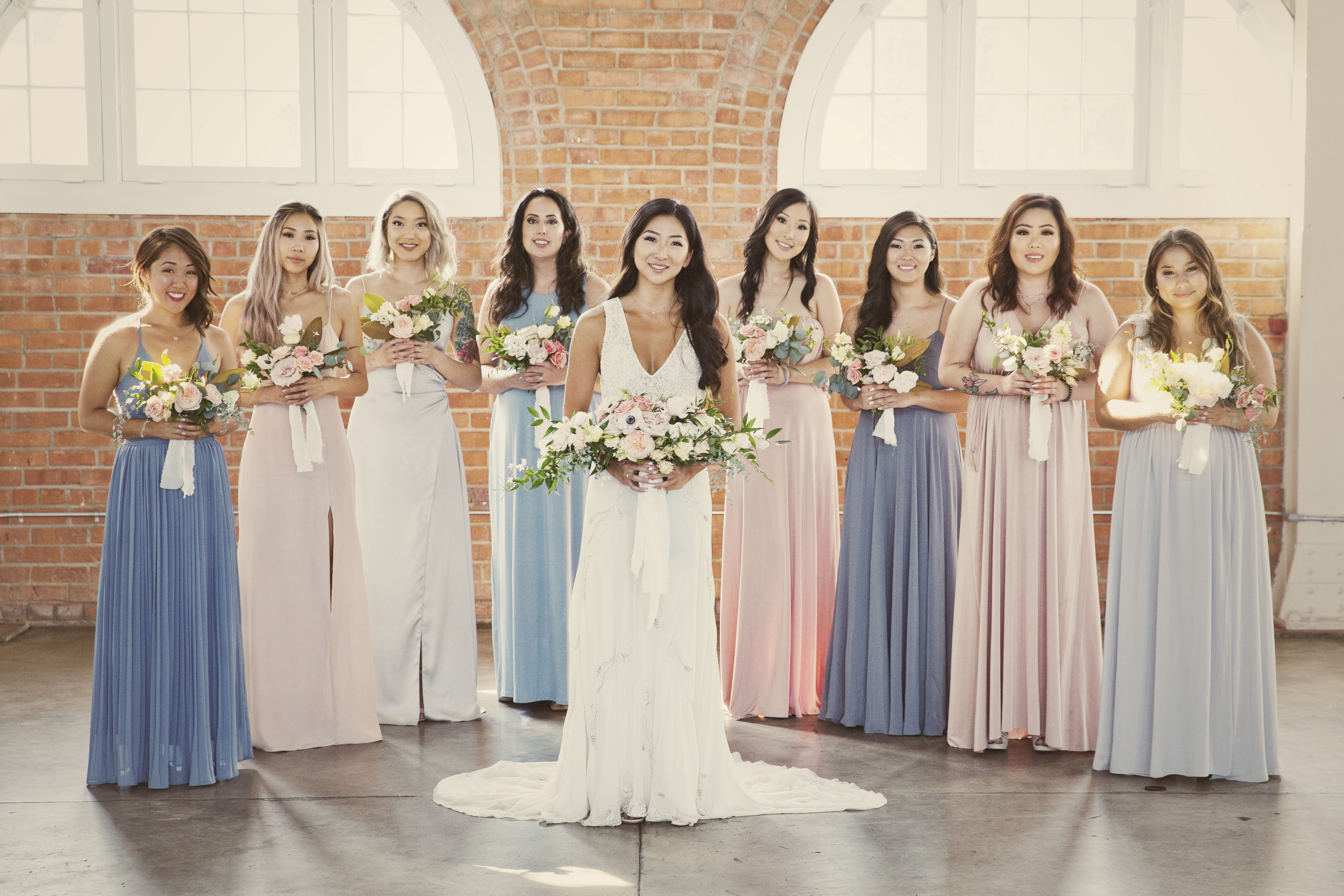 This modern pastel wedding was the definition of bright and clean elegance.